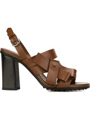 Tod's Bow Detail Sandals Brown