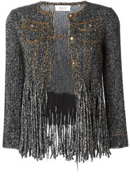 Aviu Fringed Cardigan Nude And Neutrals