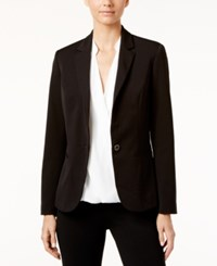 Inc International Concepts Single Button Blazer Only At Macy's Deep Black