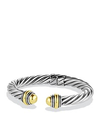 David Yurman Cable Classics Bracelet With Gold Domes Silver Yellow Gold