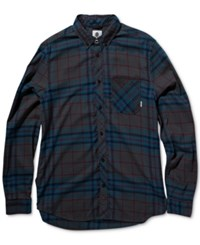 Element Men's Long Sleeve Buffalo Plaid Shirt Stone