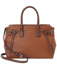 Cole Haan Emery Small Satchel Woodbury Harvest Brown