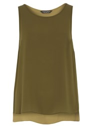 Dorothy Perkins Built Up Camisole Top Green