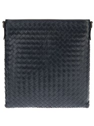 Bottega Veneta Woven Messenger Bag Blue