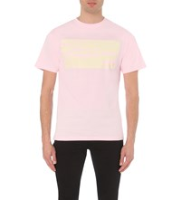 Trapstar Graphic Print Cotton Jersey T Shirt Pink