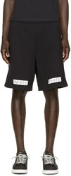 Off White Black Blue Collar Shorts