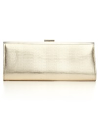 Style And Co. Carolyn Exotic Clutch Champagne