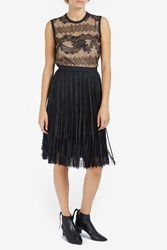 Elie Saab Women S Leather Lace Mini Skirt Boutique1 Black