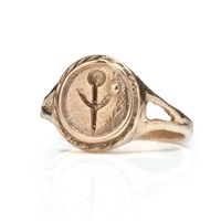Boodi Empanda Signet Ring In Gold