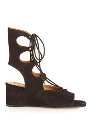 Chloe Foster Lace Up Wedge Sandals