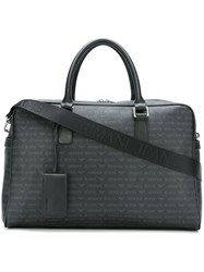 Armani Jeans Removable Strap Large Holdall Black