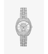 Dena Pave Silver Tone Watch
