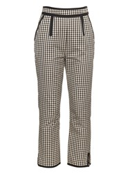 Isa Arfen High Waisted Checked Cotton Blend Trousers