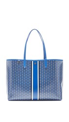 Tory Burch Gemini Link Tote Jewel Blue