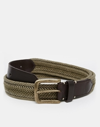 Jack Wills Gosford Plaited Belt Green