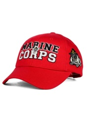 Top Of The World U.S. Marine Corps Bulldogs Teamwork Cap Red
