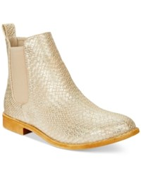 Wanted Prairie Chelsea Booties Women's Shoes Gold