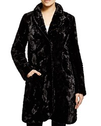 Karen Kane Faux Fur Coat Black