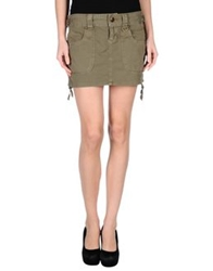 Guess Jeans Mini Skirts Military Green