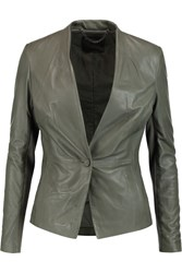 Muubaa Shaula Leather Jacket Green