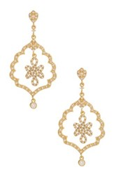 Freida Rothman 14K Gold Plated Sterling Silver Alhanbra Love Knot Drop Earrings Metallic