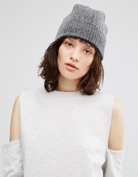 Johnstons Cashmere Ribbed Hat Light Grey