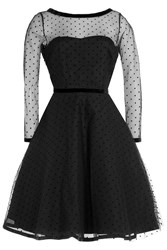 Marc By Marc Jacobs Dress With Point Desprit Black