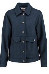 Mih Jeans Yard Wool Blend Felt Jacket Blue