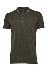 French Connection Men's One Tipping Polo Shirt Green