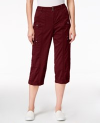 Styleandco. Style Co. Cargo Capri Pants Only At Macy's Deep Scarlet