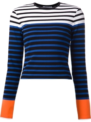T By Alexander Wang Striped T Shirt Multicolour