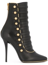 Balmain 'Alienor' Lace Up Ankle Boots Black
