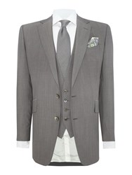 Chester Barrie Men's Notch Collar Wedding Tailored Fit Suit Silver