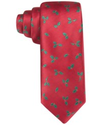 Club Room Men's Holly Woven Tie Only At Macy's Red