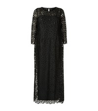 Marina Rinaldi Embellished Lace Gown Female Black