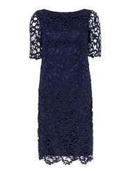 Untold All Over Lace Dress Navy