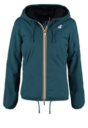 K Way Kway Marmot Winter Jacket Green Teal Anthracite Blue