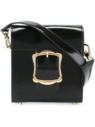 Simone Rocha Oversized Buckle Shoulder Bag Black