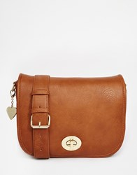 Marc B Saddle Cross Body Bag Tan