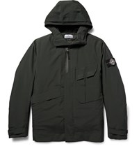 Stone Island Tone Iland Tank Hield Waterproof Hell Jacket With Quilted Down Gilet Dark Green
