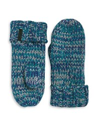 Rella Wool Blend Knit Insulated Mittens Blue