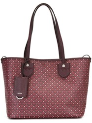 Bally Patterned Shopper Tote Pink And Purple