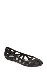 Melissa Jason Wu 'Jean' Jelly Flat Women Black