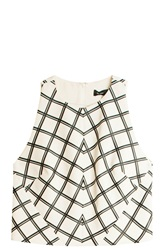 Proenza Schouler Plaid Crop Top Multi