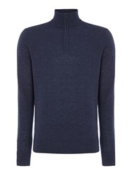 Howick Men's Arlington Lightweight Funnel Neck Jumper Indigo