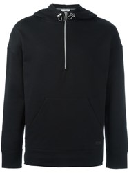 Paolo Pecora Zip Up Pullover Hoodie Black