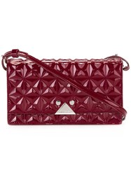 Emporio Armani Embossed Crossbody Bag Red