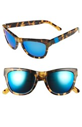 Westward Leaning Women's 'Pioneer' 53Mm Sunglasses Sand Tortoise Shiny Neon Blue Sand Tortoise Shiny Neon Blue