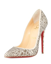 Christian Louboutin So Pretty Laser Cut Patent Glitter Red Sole Pump