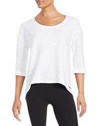 Marc New York Textured Performance Top White